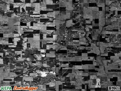Zip code 62285 satellite photo by USGS
