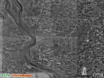 Zip code 62301 satellite photo by USGS