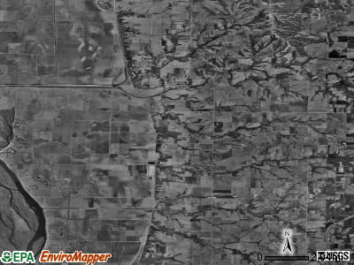 Zip code 62376 satellite photo by USGS