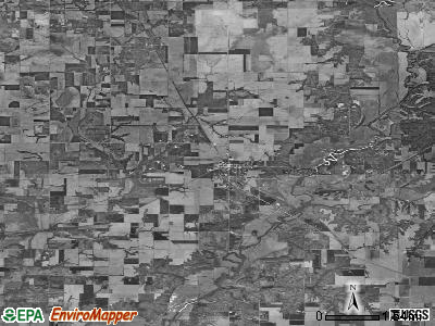 Zip code 62422 satellite photo by USGS