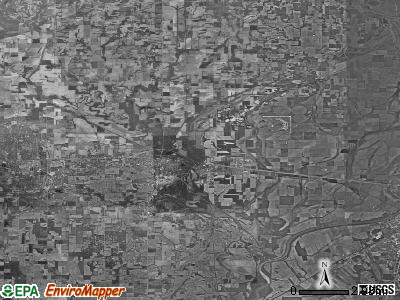Zip code 62439 satellite photo by USGS
