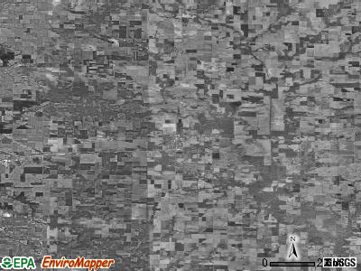 Zip code 62824 satellite photo by USGS