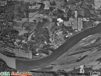 Zip code 62982 satellite photo by USGS