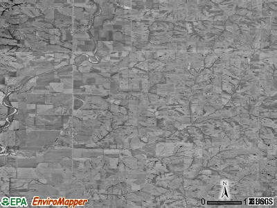 Zip code 64431 satellite photo by USGS