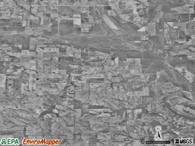 Zip code 64438 satellite photo by USGS
