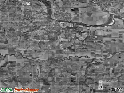 Zip code 66046 satellite photo by USGS