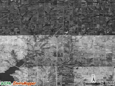 Zip code 66083 satellite photo by USGS