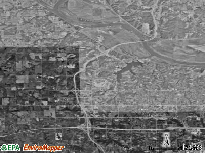 Zip code 66109 satellite photo by USGS