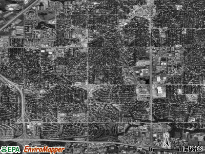 Zip code 66212 satellite photo by USGS