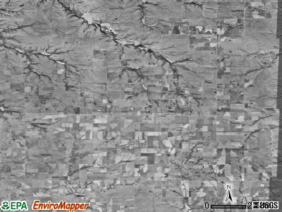 Zip code 66849 satellite photo by USGS