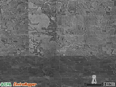 Zip code 67070 satellite photo by USGS