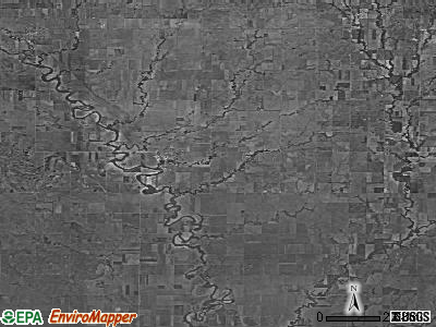 Zip code 67436 satellite photo by USGS