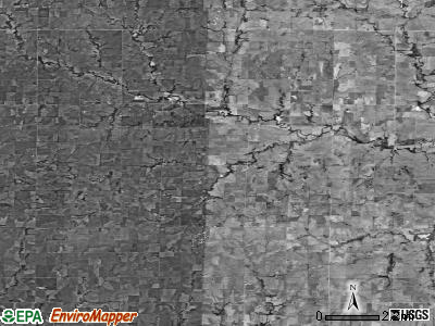 Zip code 67447 satellite photo by USGS