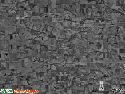 Zip code 68349 satellite photo by USGS