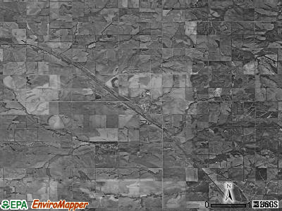 Zip code 68442 satellite photo by USGS