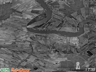 Zip code 70346 satellite photo by USGS