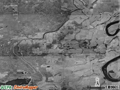 Zip code 71004 satellite photo by USGS