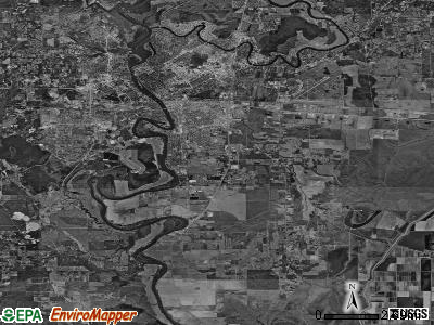 Zip code 71202 satellite photo by USGS