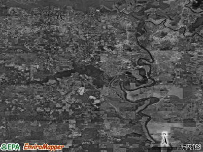 Zip code 71291 satellite photo by USGS