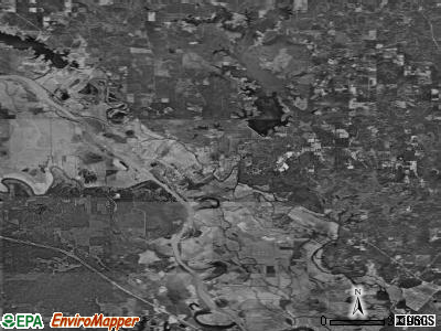 Zip code 71417 satellite photo by USGS