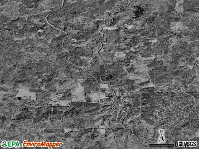 Zip code 71434 satellite photo by USGS