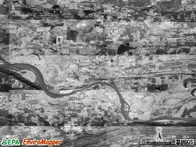 Zip code 72110 satellite photo by USGS