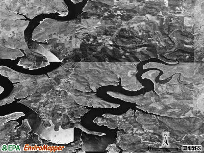 Zip code 72537 satellite photo by USGS