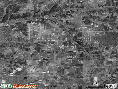 Zip code 72722 satellite photo by USGS