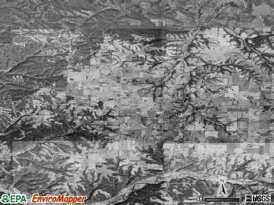 Zip code 72751 satellite photo by USGS
