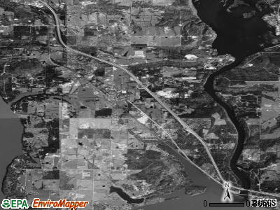 Zip code 72845 satellite photo by USGS