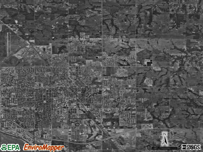 Zip code 73071 satellite photo by USGS