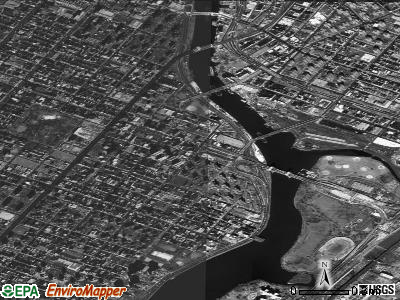 Zip code 10035 satellite photo by USGS