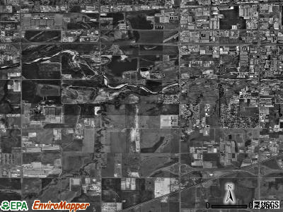 Zip code 73128 satellite photo by USGS