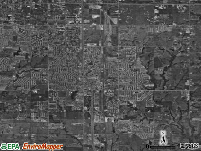 Zip code 73160 satellite photo by USGS
