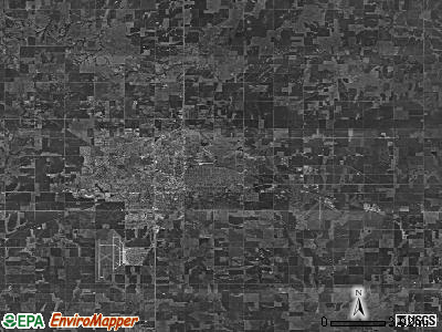 Zip code 73701 satellite photo by USGS