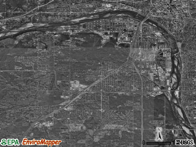 Zip code 74107 satellite photo by USGS