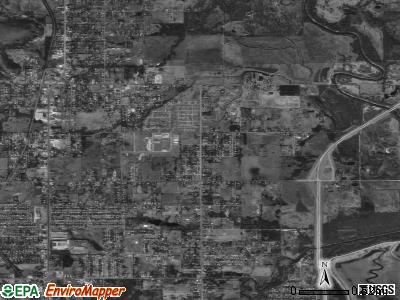 Zip code 74130 satellite photo by USGS