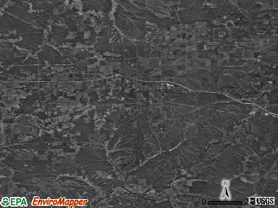 Zip code 74347 satellite photo by USGS