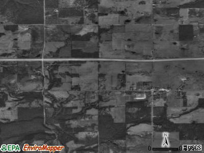 Zip code 74368 satellite photo by USGS