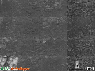 Zip code 74421 satellite photo by USGS