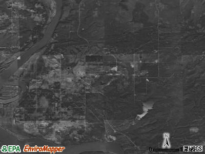Zip code 74423 satellite photo by USGS