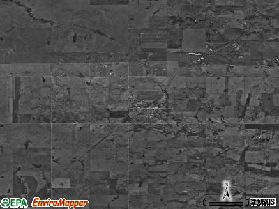 Zip code 74468 satellite photo by USGS