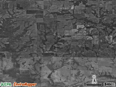 Zip code 74721 satellite photo by USGS