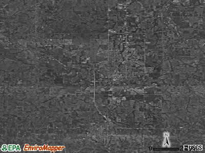 Zip code 74801 satellite photo by USGS