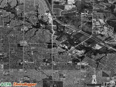 Zip code 75044 satellite photo by USGS