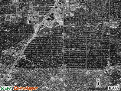 Zip code 75206 satellite photo by USGS