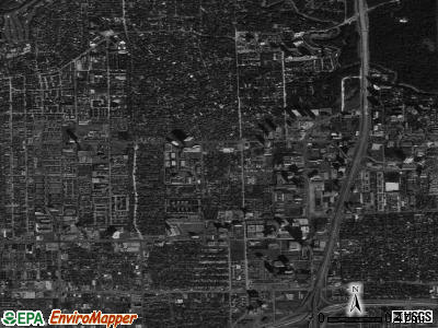Zip code 77056 satellite photo by USGS