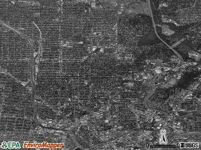 Zip code 78212 satellite photo by USGS