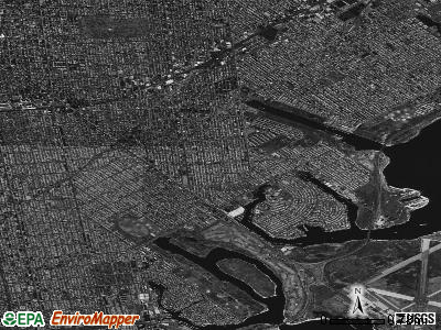 Zip code 11234 satellite photo by USGS