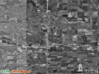 Zip code 80501 satellite photo by USGS
